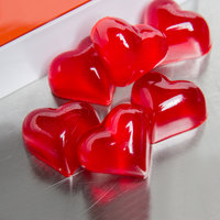 Matfer Bourgeat 339016 Red Silicone 24 Compartment Fruit Jelly Flexible Heart Mold