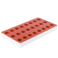 Matfer Bourgeat 339013 24 Compartment Fruit Jelly Flexible Raspberry Mold