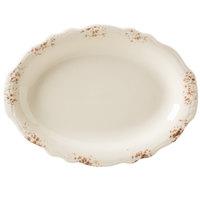 Homer Laughlin 52641301 Cottage Brun 11 3/4 inch Scalloped Edge Oval Platter - 12/Case