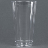 WNA Comet CC16240 Classicware 16 oz. Tall Clear Plastic Fluted Tumbler - 20 / Pack