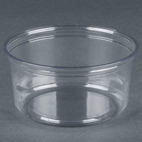 Fabri-Kal Alur RD12 12 oz. Recycled Customizable Clear PET Plastic Round Deli Container - 50 / Pack