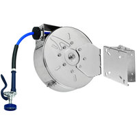 T&S B-7222-C01-ESB 30' Enclosed Epoxy Coated Hose Reel with High Flow Spray Valve and Swing Bracket