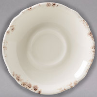 Homer Laughlin 58041301 Cottage Brun 5 5/8 inch Scalloped Edge Saucer - 36/Case