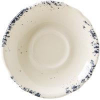 Homer Laughlin 58041300 Cottage Bleu 5 5/8 inch Scalloped Edge Saucer - 36/Case