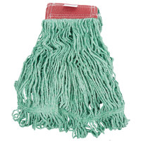 Rubbermaid FGD25306GR00 Green Large Super Stitch Blend Mop Head with 5 inch Headband