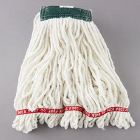 Rubbermaid FGA25206WH00 White Medium Web Foot Shrinkless Blend Mop Head with 5 inch Headband