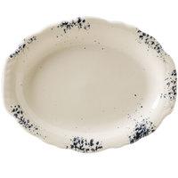 Homer Laughlin 52541300 Cottage Bleu 9 7/8 inch Scalloped Edge Oval Platter - 24/Case