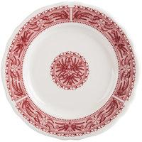 Homer Laughlin 5429209 Carolyn Fox Fern 7 1/4 inch Scalloped Edge Plate - 36/Case