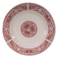 Homer Laughlin 2059209 Carolyn Fox Fern 9 inch Rolled Edge Plate - 24/Case