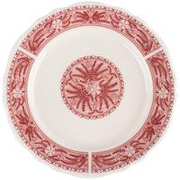 Homer Laughlin 5449209 Carolyn Fox Fern 9 inch Scalloped Edge Plate - 24/Case