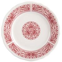 Homer Laughlin 5419209 Carolyn Fox Fern 6 1/4 inch Scalloped Edge Plate - 36/Case