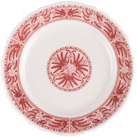 Homer Laughlin 5469209 Carolyn Fox Fern 9 3/4 inch Scalloped Edge Plate   - 24/Case