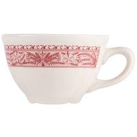 Homer Laughlin 5089209 Carolyn Fox Fern 7.25 oz. Scalloped Edge Cup - 36/Case