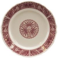 Homer Laughlin 5409209 Carolyn Fox Fern 5 1/2 inch Scalloped Edge Plate - 36/Case