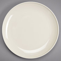 Homer Laughlin 13129200 FlipSide 12 1/4 inch Ivory (American White) Round Plate - 12/Case