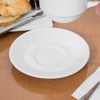 Syracuse China 950033588 Slenda 5 7/8 inch Royal Rideau White Porcelain Tea Saucer - 36/Case
