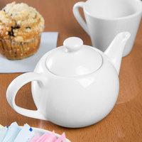 Syracuse China 905356903 Slenda 14 oz. Royal Rideau White Porcelain Tea Pot with Lid - 12/Case