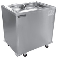 Delfield T2-1221H Two Stack Heated Enclosed Mobile Tray Dispenser for 12 inch x 21 inch Trays