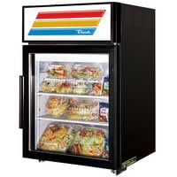 True GDM-5-LD Black Countertop Display Refrigerator with Swing Door