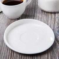 Syracuse China 905356124 Slenda Verve 4 1/4 inch Round Royal Rideau White Porcelain Saucer - 36/Case