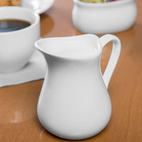 Syracuse China 905356906 Slenda 6 oz. Royal Rideau White Porcelain Creamer - 24/Case