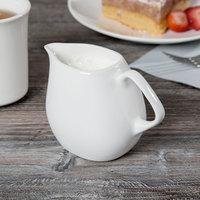 Syracuse China 905356129 Slenda Verve 9 oz. Royal Rideau White Porcelain Creamer - 12/Case