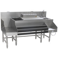 Eagle Group CCS-66-3 Spec-Bar 66 inch Stainless Steel Combination Cocktail Station with 18 inch Recessed Workboard
