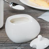 Syracuse China 905356127 Slenda Verve 5 oz. Royal Rideau White Porcelain Sugar Pot - 12/Case