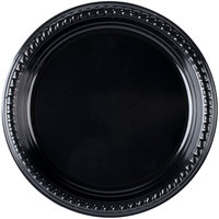 Dart Solo PS95E-0099 9 inch Black Premium Party Plastic Plate - 500/Case