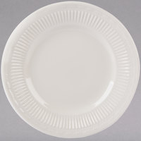 Tuxton HEA-064 Hampshire 6 1/2 inch Eggshell Embossed China Plate - 36/Case