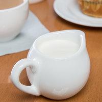 Syracuse China 911197034 Slenda 5 oz. Royal Rideau White Porcelain Creamer - 24/Case