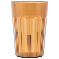 Cambro NT5153 Newport 6.4 oz. Amber Customizable Plastic Tumbler - 36/Case