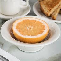 Tuxton HED-064 Hampshire 7.5 oz. Ivory (American White) Embossed Grapefruit Dish - 36/Case