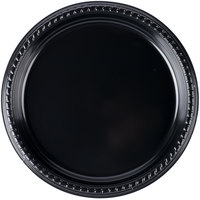 Dart Solo PS15E-0099 10 1/4 inch Black Premium Party Plastic Plate - 500/Case