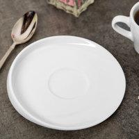 Syracuse China 905356123 Slenda Verve 6 inch Round Royal Rideau White Porcelain Saucer - 36/Case