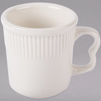 Tuxton HEM-080 Hampshire 8 oz. Eggshell Embossed China Mug - 36/Case