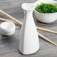Syracuse China 905356708 Slenda 4 oz. Royal Rideau White Porcelain Sake Bottle - 12/Case