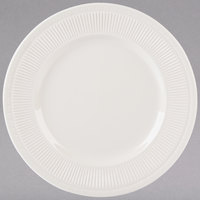 Tuxton HEA-103 Hampshire 10 1/4 inch Eggshell Embossed China Plate - 12/Case