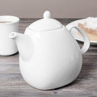 Syracuse China 905356126 Slenda Verve 23 oz. Royal Rideau White Porcelain Teapot with Lid - 12/Case