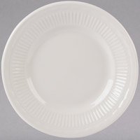 Tuxton HEA-054 Hampshire 5 1/2 inch Eggshell Embossed China Plate - 36/Case