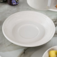 Tuxton HEE-054 Hampshire 5 1/2 inch Ivory (American White) Embossed Saucer - 36/Case