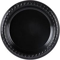 Dart Solo P65E-0099 6 inch Black Premium Party Plastic Plate   - 1000/Case