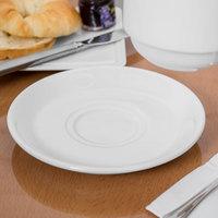 Syracuse China 950002300 Slenda 6 3/8 inch Royal Rideau White Porcelain Stacking Tea Saucer - 36/Case