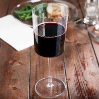 Fineline Renaissance 2811 11 oz. Clear Plastic 1-Piece Wine Glass - 6/Pack
