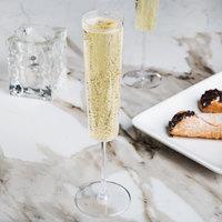Fineline Renaissance 2807 7 oz. Clear Plastic 1-Piece Champagne Flute - 6/Pack