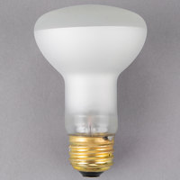 Satco S4886 50 Watt Frosted Shatterproof Finish Incandescent Rough Service Flood Light Bulb - 120V (R20)