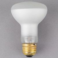 Satco S4886 50 Watt Frosted Shatterproof Finish Incandescent Rough Service Flood Light Bulb - 120V (R20)