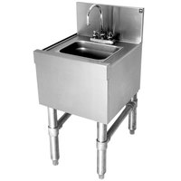 Eagle Group HS12-24 Spec-Bar 20 Gauge Stainless Steel Hand Sink with Deck Mount Faucet - 12 inch x 24 inch
