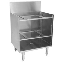 Eagle Group GR18-24 Spec-Bar 18 inch x 24 inch Stainless Steel Glass Rack Storage Unit with Shelves