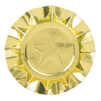 Royal Paper LA200P 4 1/8 inch Disposable Aluminum Foil Ashtray with Gold Star Design - 250/Box